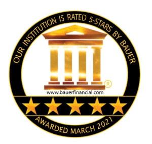 BauerFinancial Rating 5 Stars Mar 2021